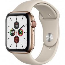 Apple Watch Series 5 LTE 44mm Gold Steel w. Stone b.- Gold Steel (MWW52)