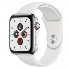 Apple Watch Series 5 LTE 44mm Steel w. White b.- Steel (MWW22)