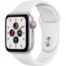 Apple Watch SE GPS + Cellular 44mm Silver Aluminum Case with White Sport B. (MYEM2) / MYEV2