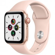 Apple Watch SE GPS + Cellular 40mm Gold Aluminum Case with Pink Sand Sport B. (MYEA2) / MYEH2