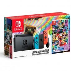 Nintendo Switch Neon Blue-Red + Mario Kart 8 Deluxe