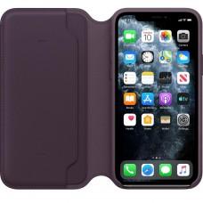 Apple iPhone 11 Pro Leather Folio - Aubergine (MX072)