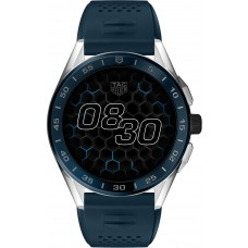 TAG Heuer Connected Steel Case - Blue Rubber Strap SBG8A11.BT6220