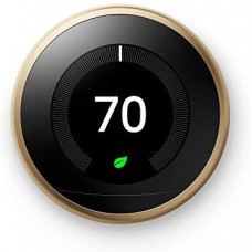 Google Nest Learning Thermostat 3nd Generation Brass (T3032US)