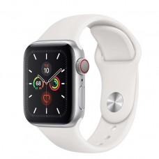 Apple Watch Series 5 GPS + LTE 40mm Silver Case w. White Sport Band (MWWN2, MWX12)