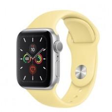 Apple Watch Series 5 GPS 44mm Silver Aluminum Case with Lemon Cream (MWT32)