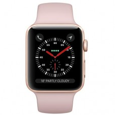 Apple Watch Series 3 (GPS + Cellular) 38mm Gold Aluminium Case with Pink Sand Sport Band (MQKH2)