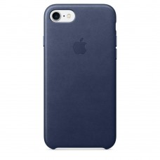 Apple iPhone 7 Leather Case - Midnight Blue MMY32