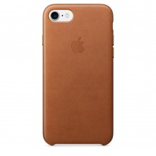 Apple iPhone 7 Leather Case - Saddle Brown MMY22