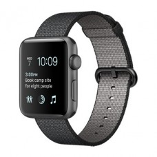 Apple Watch Series 2 42mm Space Gray Aluminum Case with Black Woven Nylon Band (MP072)