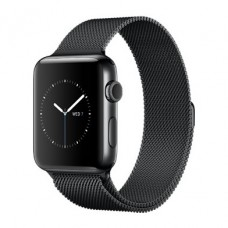 Apple Watch Series 2 38mm Space Black Stainless Steel Case with Space Black Milanese Loop Band (MNPE2)