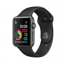 Apple Watch Series 1 42mm Space Grey Aluminium Case with Black Sport Band (MP032)