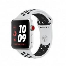 Apple Watch Nike+ Series 3 (GPS + Cellular) 38mm Silver Aluminum w. Pure Platinum/BlackSport B. (MQL52)