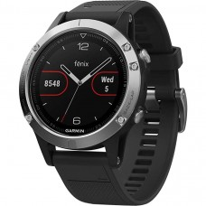 Garmin fenix 5 Black Sapphire with Black Band Silver (010-01688-03)