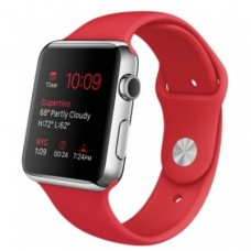 Apple Watch 42mm Stainless Steel Case with Productred Sport Band (MLLE2)