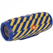 JBL Charge 3 Waterproof (Zap) сине-желтый узор (гарантия 3 месяца)