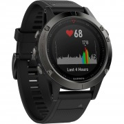 Garmin Fenix 5 Black Sapphire with Black Band (010-01688-10)