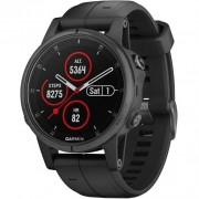 Garmin Fenix 5S Plus Sapphire Black with Black Band (010-01987-02)